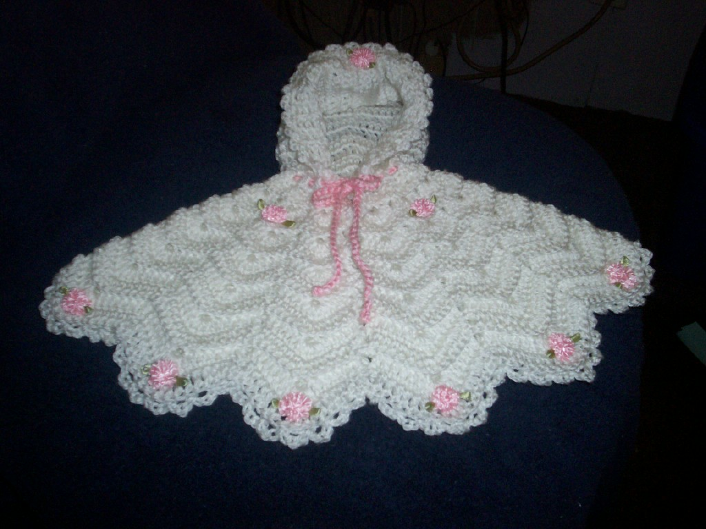 Free Crochet Pattern Child s Hooded Cape : Preemie Ripple Poncho